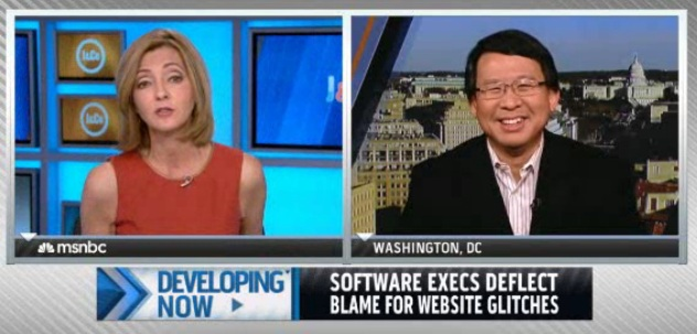 Luke Chung and Chris Jansing on MSNBC